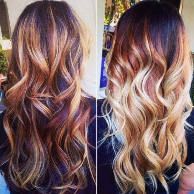 Red, Blonde Balayage   Hair Styles, Hair Color Trends Intended For Pixie Hairstyles With Red And Blonde Balayage (View 6 of 20)