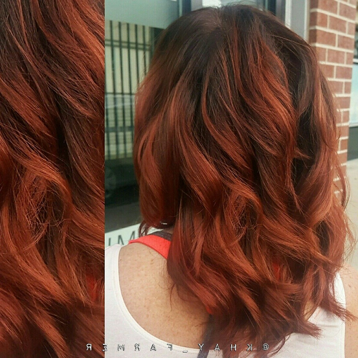 Red Dimensional Hair With A Shadow Root   Hair Shadow Intended For Dimensional Dark Roots To Red Ends Balayage Hairstyles (View 14 of 20)