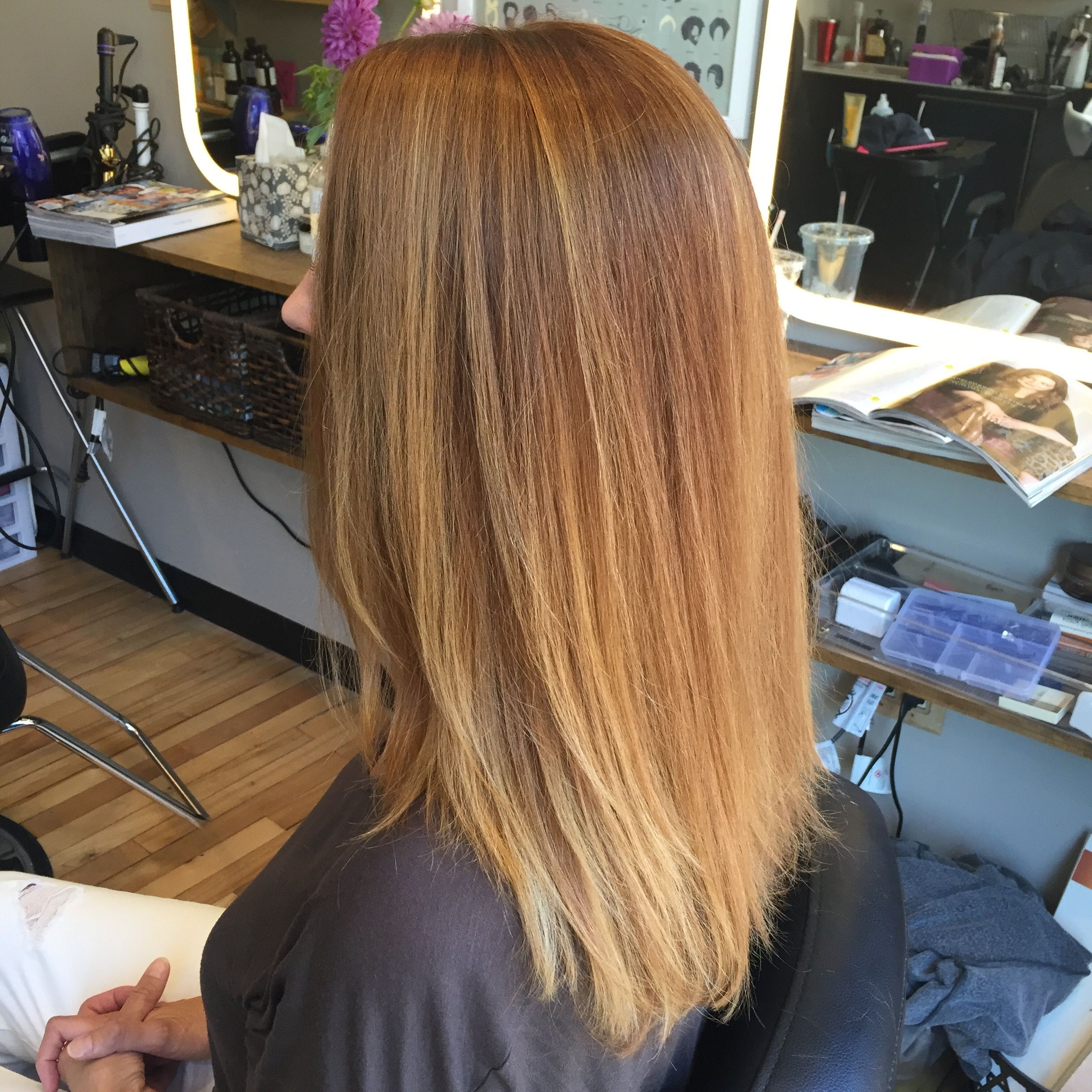 Red Hair, Balayage, Hair Painting, Highlights, Ombre Within Strawberry Blonde Balayage Hairstyles (View 8 of 20)