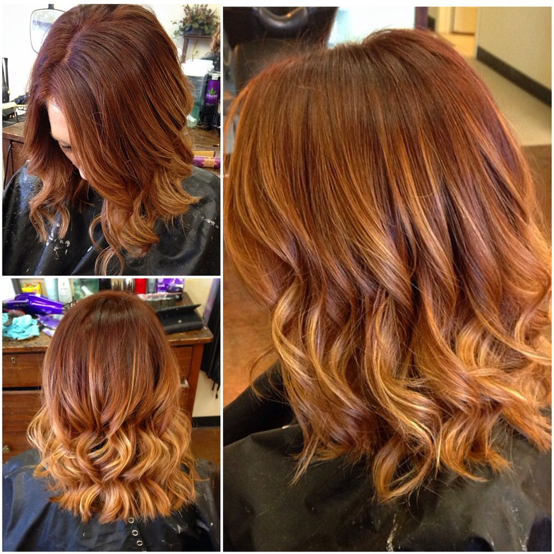 Red Hair With Balayage Ombré #redhead #redhair #redombre # In Bright Red Balayage On Short Hairstyles (View 6 of 20)