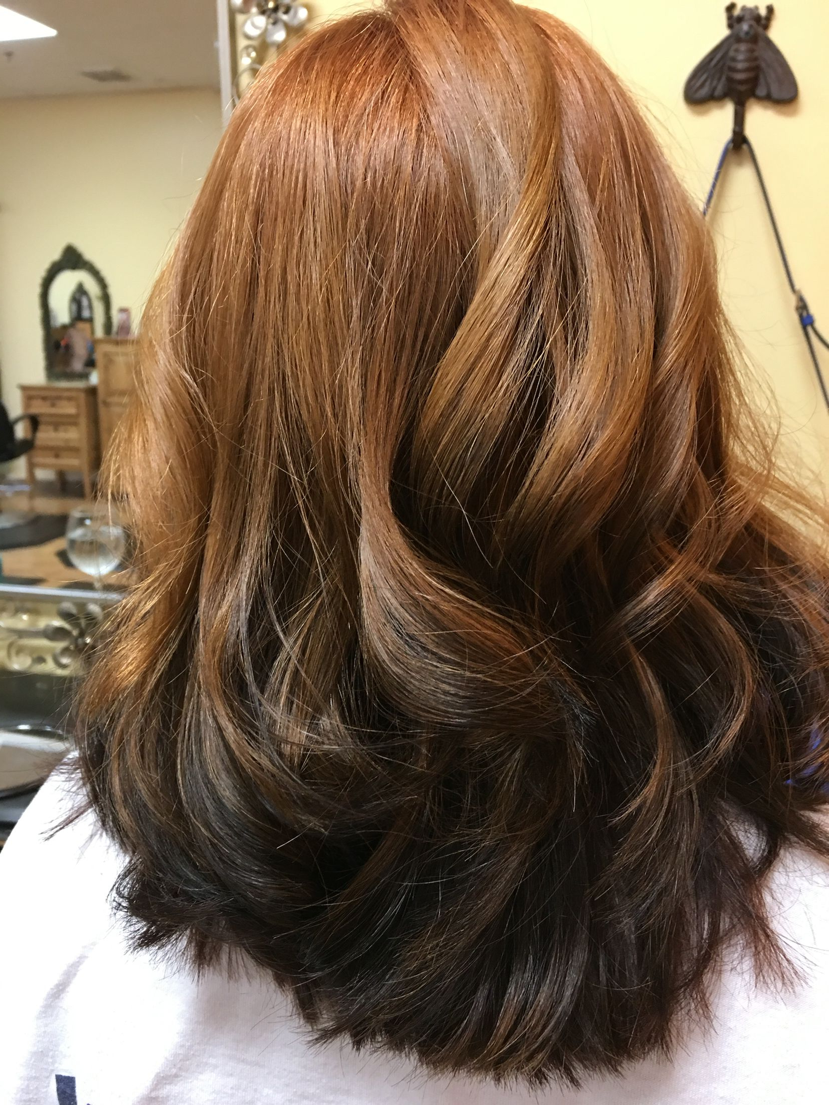 Reverse Ombre Red To Brown   Reverse Ombre Hair, Ombre With Dimensional Dark Roots To Red Ends Balayage Hairstyles (View 6 of 20)