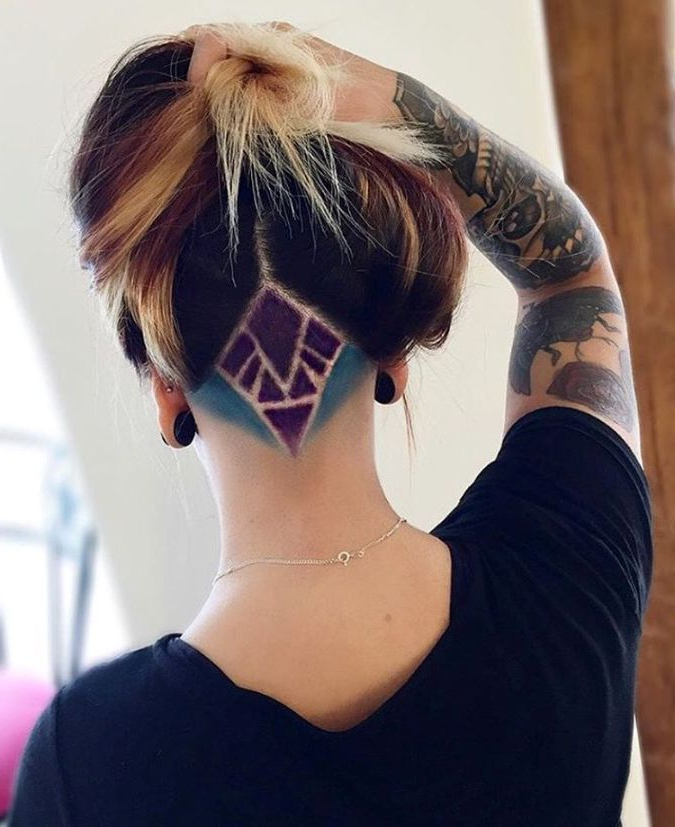 Sensational Ideas On Undercut Women, Human Hair Color Inside Newest Two Tone Undercuts For Natural Hair (View 11 of 20)