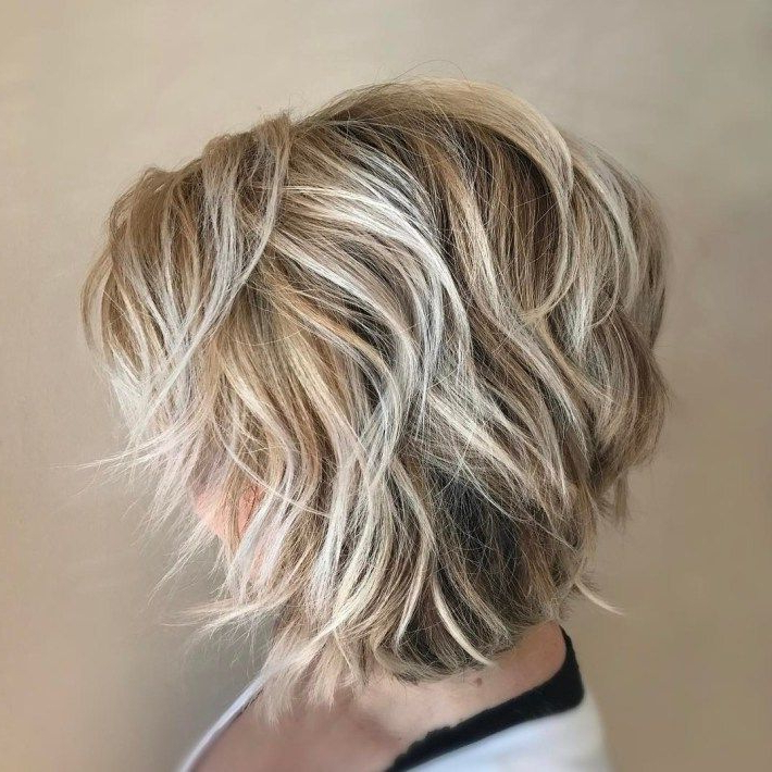 Shaggy A Line Bob With Loose Curls | Short Hair With With Regard To Lavender Balayage For Short A Line Haircuts (View 16 of 20)