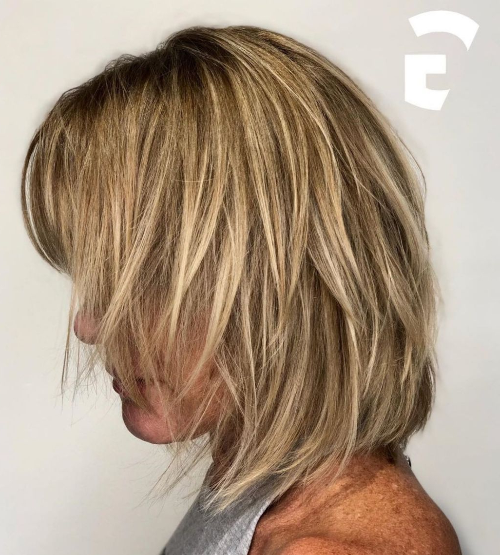 Shaggy Bob With Blonde Highlights | Modern Shag Haircut With Regard To Shaggy Bob Hairstyles With Face Framing Highlights (View 11 of 20)