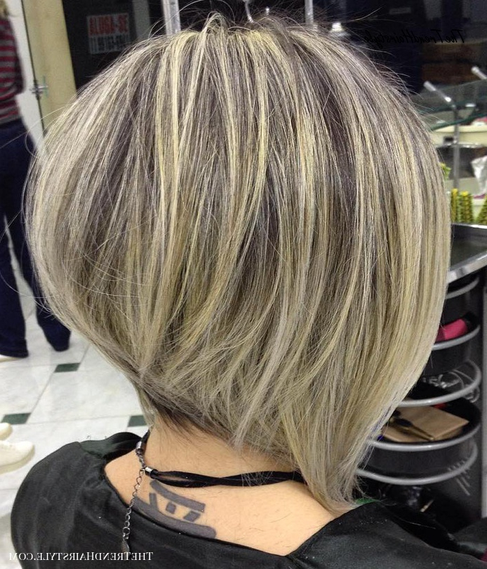 Shaggy Inverted Bob – 50 Trendy Inverted Bob Haircuts Pertaining To Balayage For Short Stacked Bob Hairstyles (View 10 of 20)