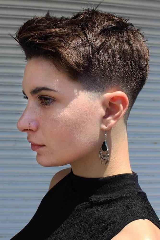 Short Taper Haircuts – 10+ » Short Haircuts Models Inside Latest Long Pixie Hairstyles With Skin Fade (View 2 of 20)