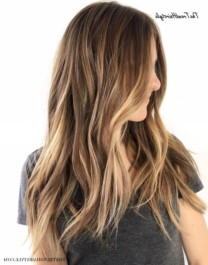 Side Swept Waves For Ash Blonde Hair – 50 Light Brown Hair Throughout Brown Blonde Balayage Hairstyles (View 11 of 20)