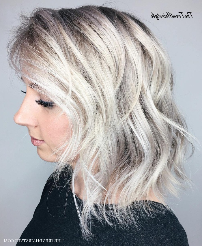 Sophisticated Inverted Lob – 20 Inspiring Long Layered Bob Pertaining To Most Recent Lob Hairstyles With Face Framing Layers (View 11 of 20)