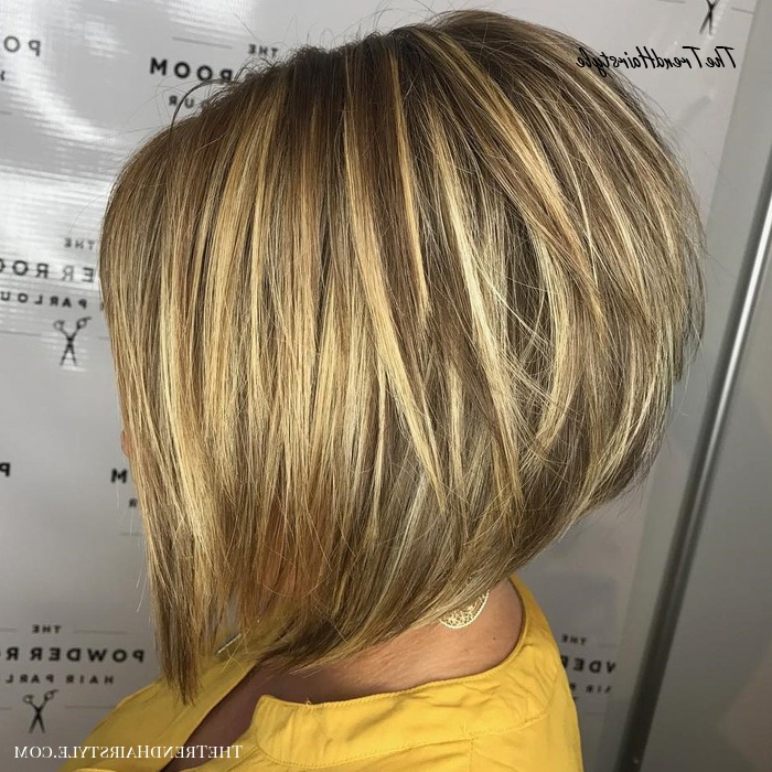 Stacked Bob For Thin Hair – The Full Stack: 50 Hottest For Ash Blonde Balayage For Short Stacked Bob Hairstyles (View 10 of 20)