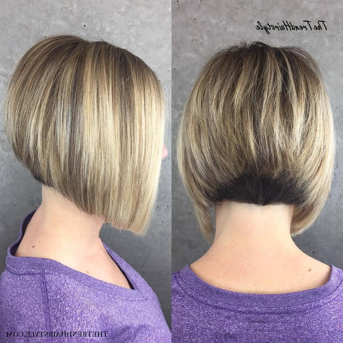 Featured Photo of Balayage For Short Stacked Bob Hairstyles