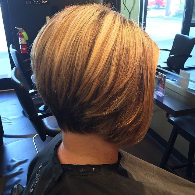 Stacked Bob Hairstyle – Hairstyles Weekly Within Half Bob Half Pixie Hairstyles With Cool Blonde Balayage (View 6 of 20)