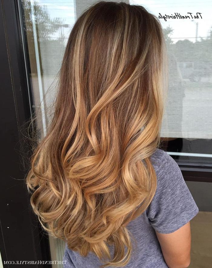 Strawberry Blonde Balayage – 20 Sweet Caramel Balayage Throughout Natural Looking Dark Blonde Balayage Hairstyles (View 2 of 20)