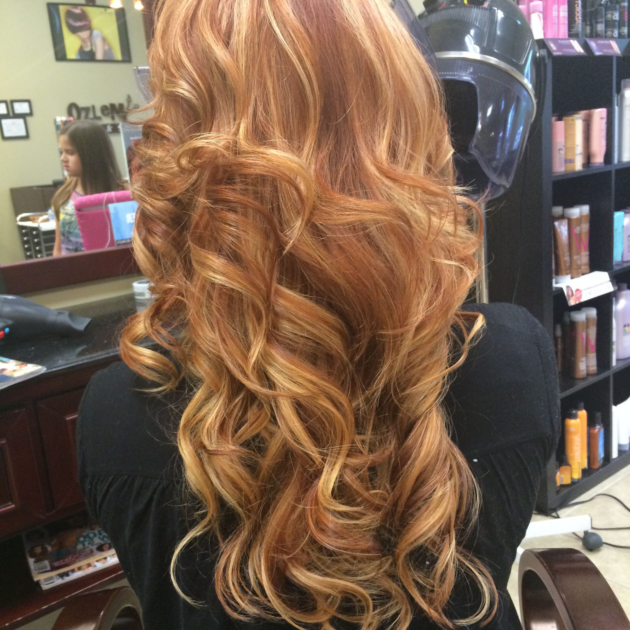 Strawberry Blonde, Long Layers, Curls, Red Hair Regarding Marsala To Strawberry Blonde Ombre Hairstyles (View 2 of 20)