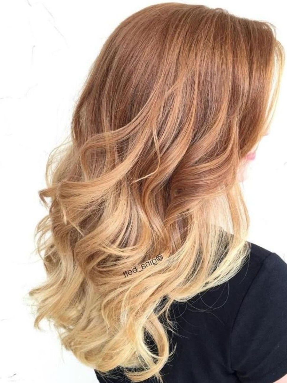 Strawberry Blonde Ombre   Ombre Hair Blonde, Dark Inside Marsala To Strawberry Blonde Ombre Hairstyles (View 9 of 20)