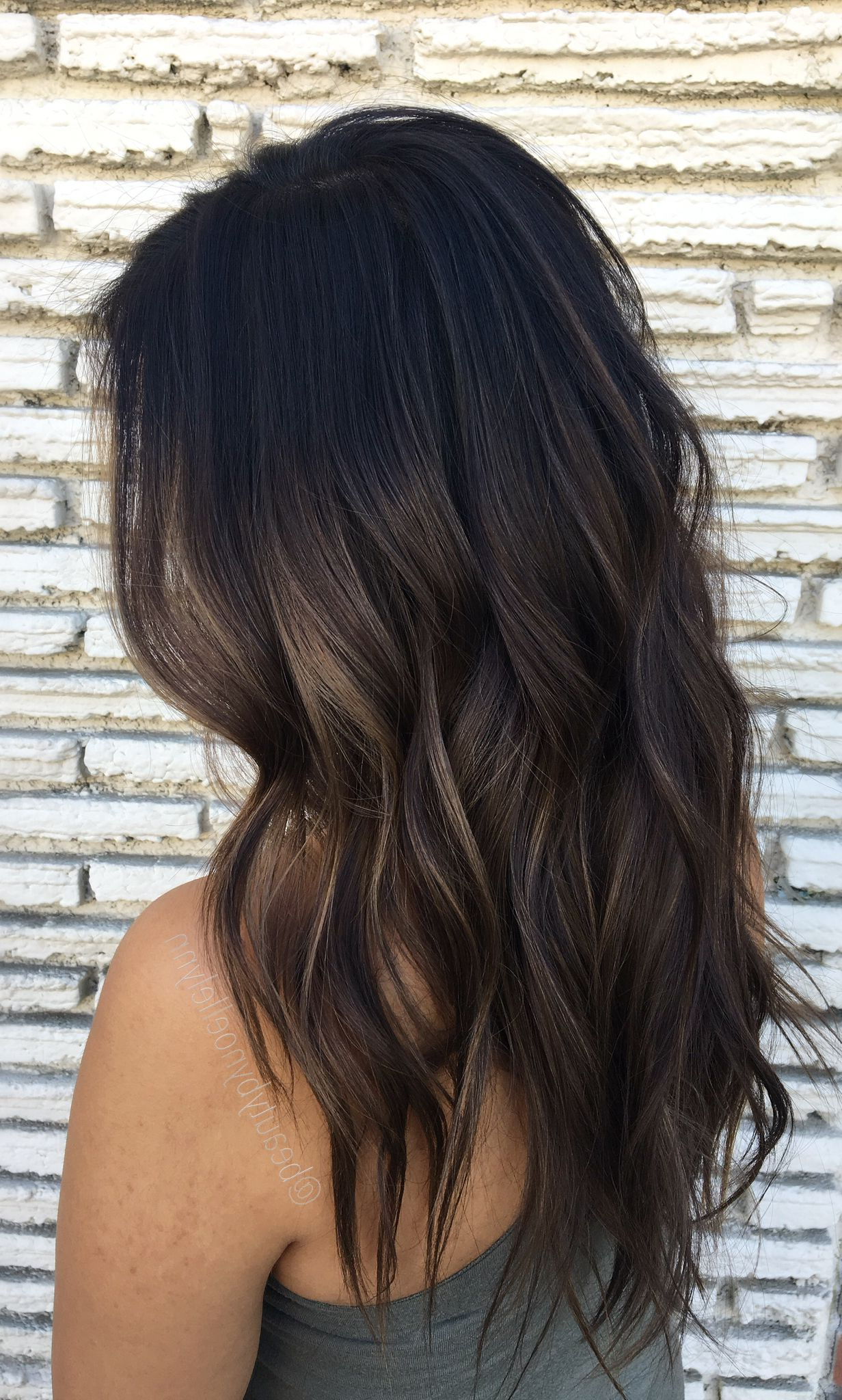 Subtle Brown Balayage | Hair Styles, Wine Hair, Subtle Pertaining To Subtle Balayage Highlights For Short Hairstyles (View 14 of 20)