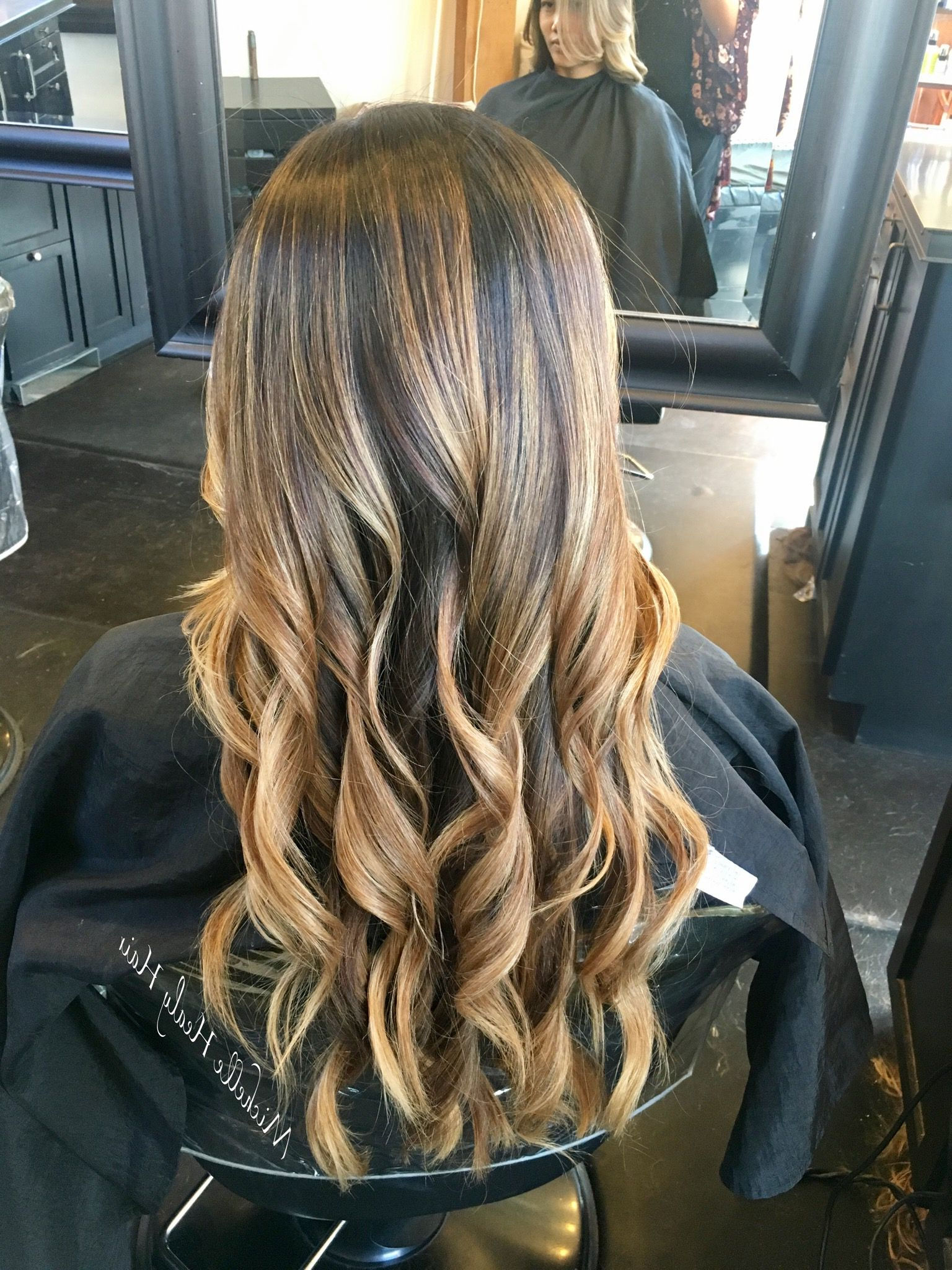 Sun Kissed Highlights On This Beautiful Brunette   Long Pertaining To Short Sun Kissed Hairstyles (View 14 of 20)