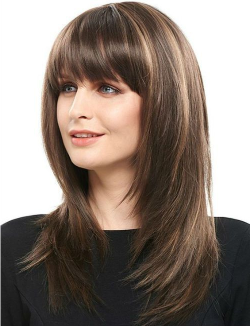 Featured Photo of Full Fringe And Face Framing Layers Hairstyles
