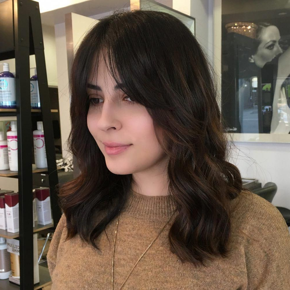 Textured Center Bangs #toplonghairstyles (View 8 of 20)