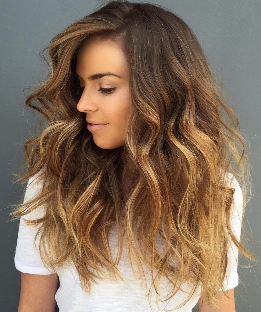The 30 Hottest Brunette Best Balayage Highlights For Pertaining To Brown Blonde Balayage Hairstyles (View 12 of 20)