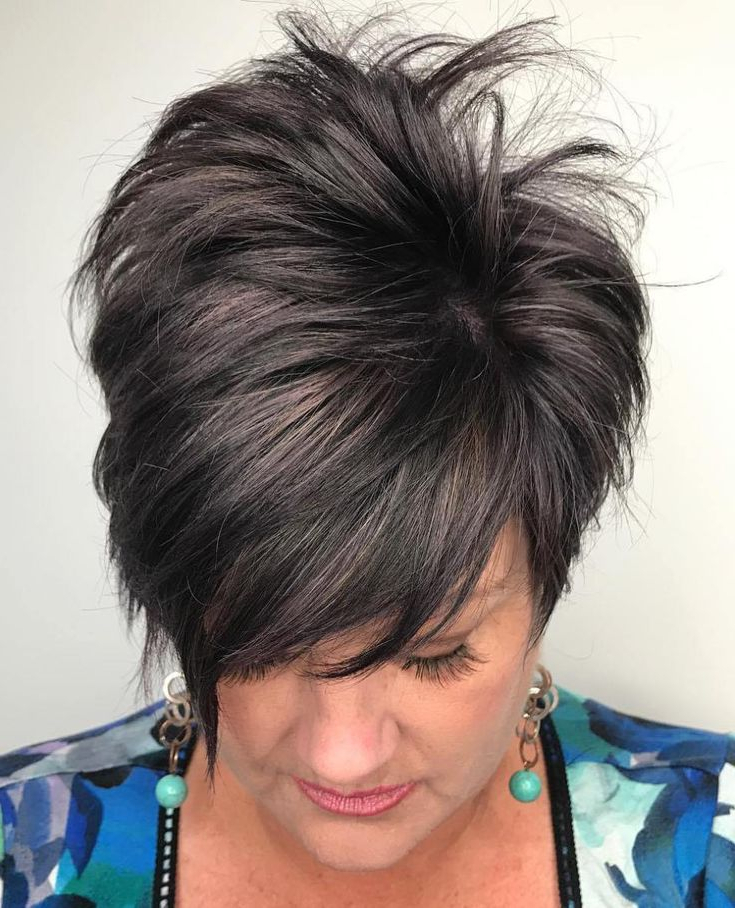 Thick Hair Styles With Regard To Most Up To Date Tapered Pixie Hairstyles With Extreme Undercut (View 5 of 20)