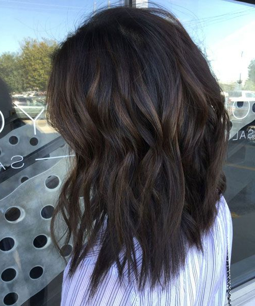 Top Balayage For Dark Hair – Black And Dark Brown Hair Pertaining To Subtle Balayage Highlights For Short Hairstyles (View 18 of 20)