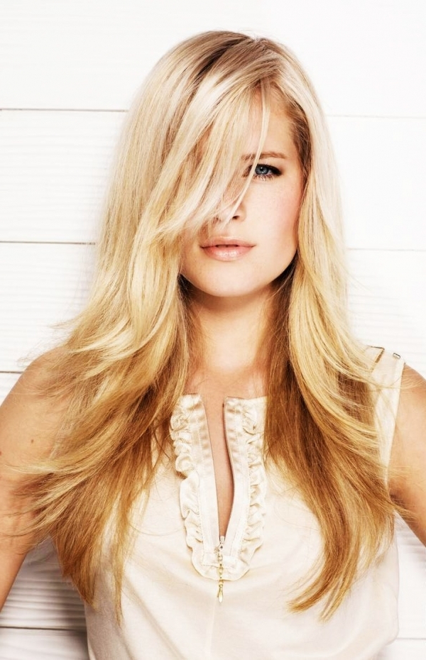 Trendy Blonde Longer Face Framing Layers Hairstyles With Regard To Face Framing Layers – 15 Hairstyles Guys Love Hair (View 15 of 20)