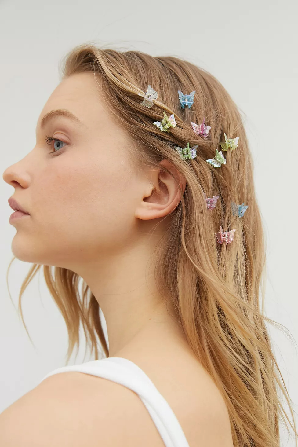 Trendy Butterfly Clips Hairstyles With Regard To Urban Renewal Vintage Colorful Mini Butterfly Clip Set In (View 2 of 20)