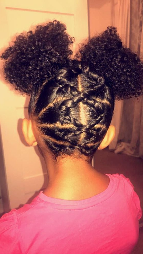 Trendy Tiny Braids Hairstyles For Front Pieces With 50 Most Inspiring Hairstyles Ideas For Little Black Girls (View 2 of 20)