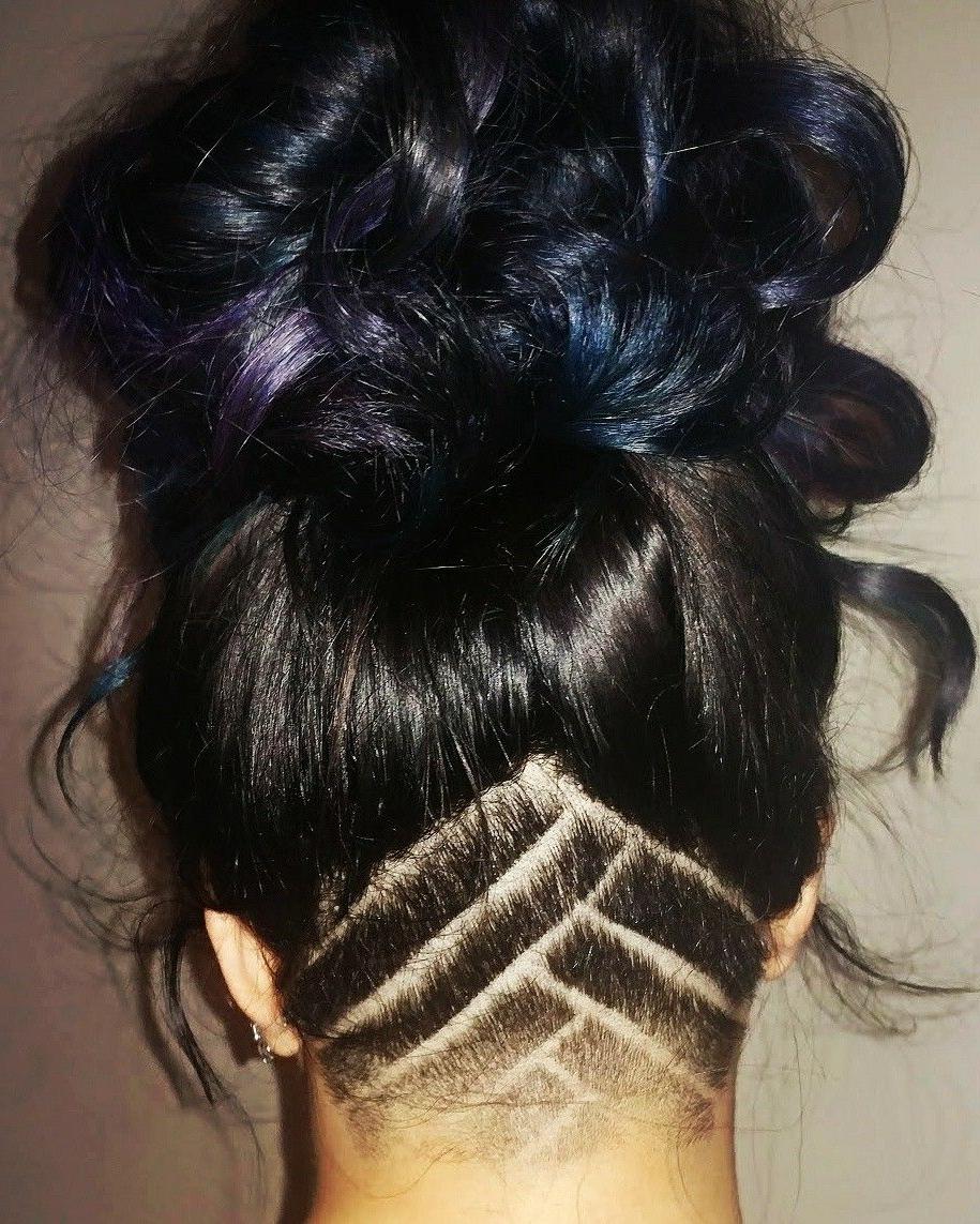 Undercut Curly Hair, Undercut Hairstyles (View 12 of 20)
