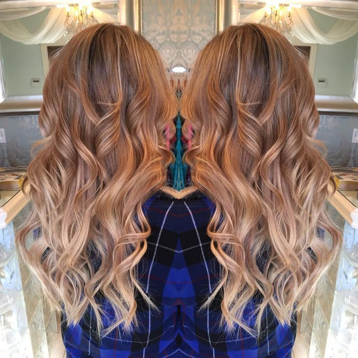 Warm Blonde Balayage Ombré – Hair Colors Ideas | Blonde Intended For Strawberry Blonde Balayage Hairstyles (View 16 of 20)