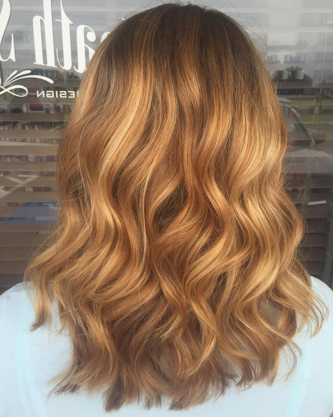 Wavy Strawberry Blonde Hair With Some Blonde Balayage Intended For Strawberry Blonde Balayage Hairstyles (View 13 of 20)