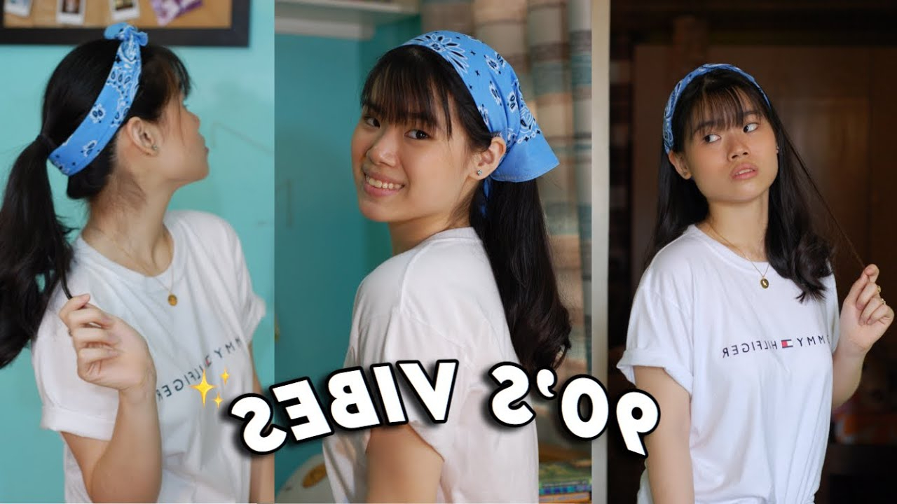 Well Known 90s Bandana Hairstyles Intended For Bandana Hairstyles For Bangs! (90's Vibes) (View 15 of 20)