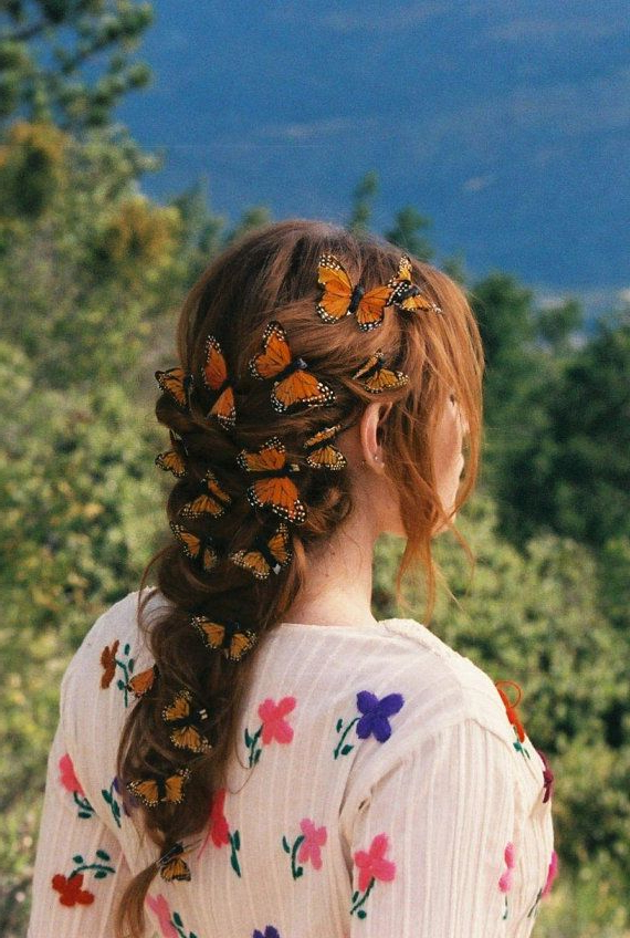Well Known Butterfly Clips Hairstyles With Monarch Fairy Butterfly Hair Clips – Set Of (View 16 of 20)