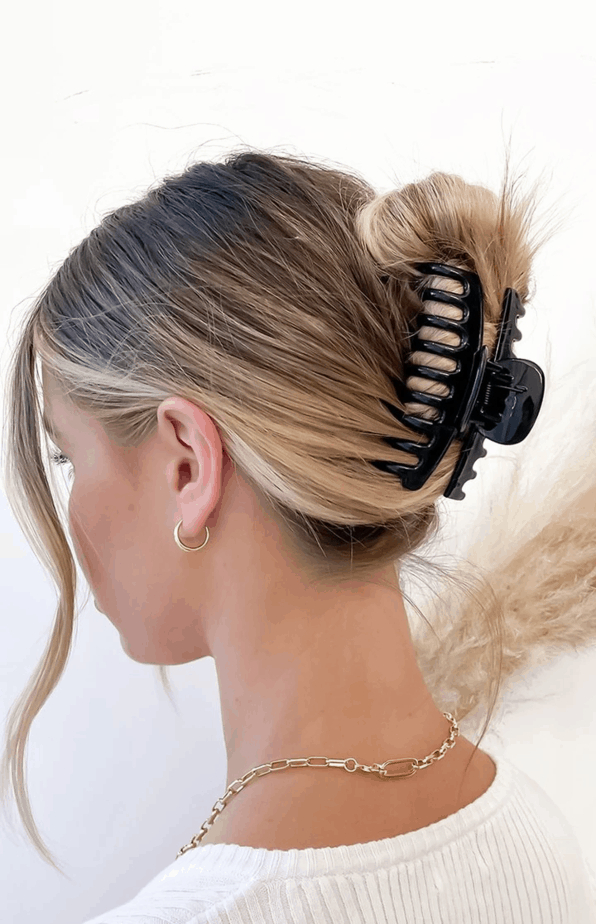 Well Known Clip Hairstyles Regarding Eclat No Doubt Claw Hair Clip Black (View 12 of 20)