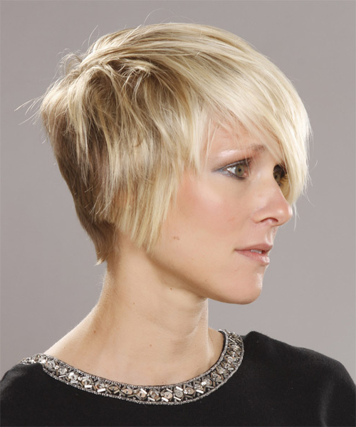 Well Known Platinum Blonde Pixie Hairstyles With Long Bangs Within Platinum Pixie Cut With Side Swept Bangs (View 7 of 20)