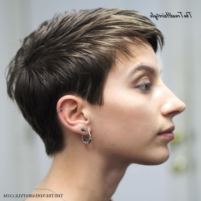 Well Known Tapered Pixie Hairstyles With Extreme Undercut Pertaining To Icy Short Pixie Cut – 60 Cute Short Pixie Haircuts (View 1 of 20)