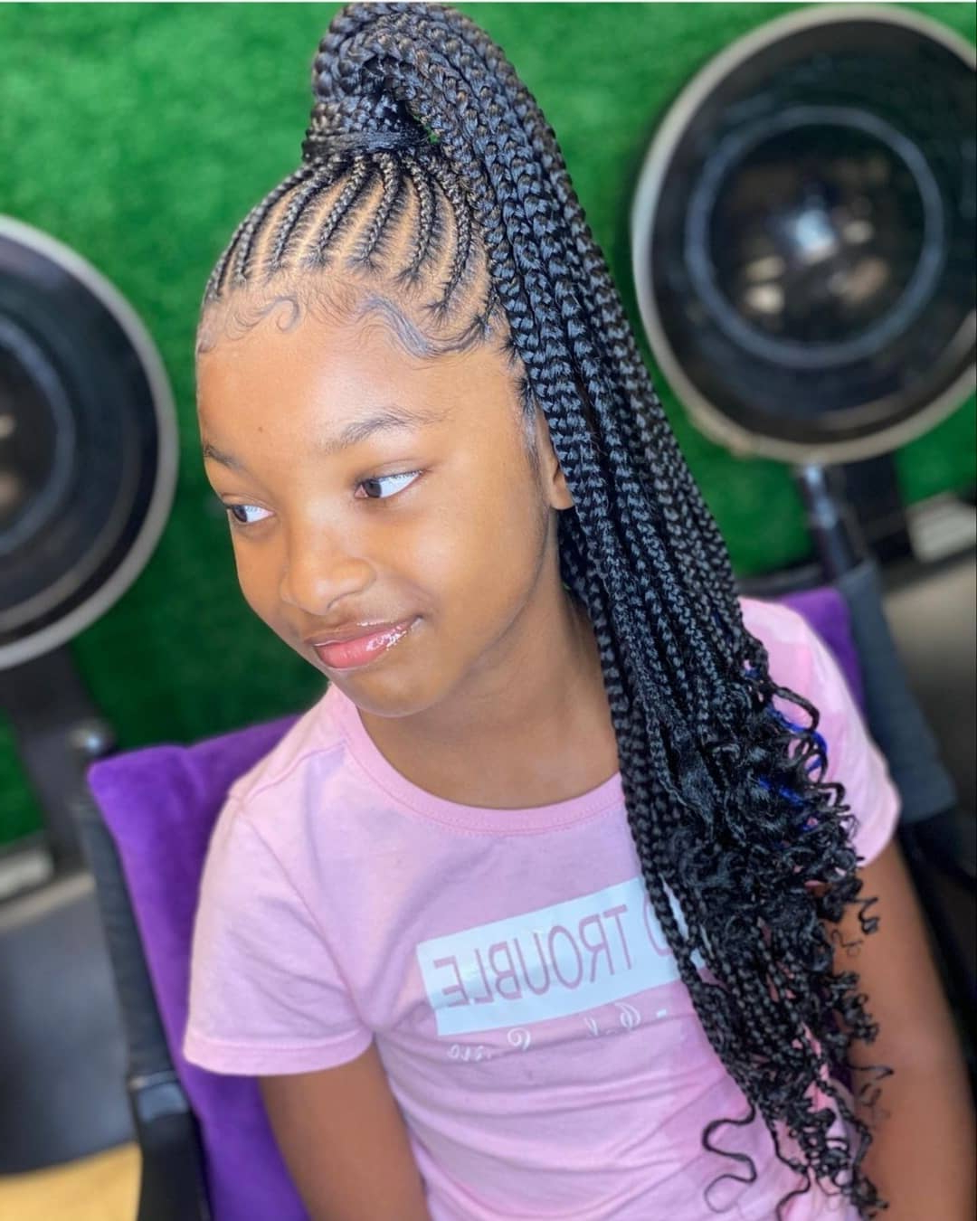 Well Known Tiny Braids Hairstyles For Front Pieces Intended For Latest Black Braided Hairstyles For Kids (View 3 of 20)