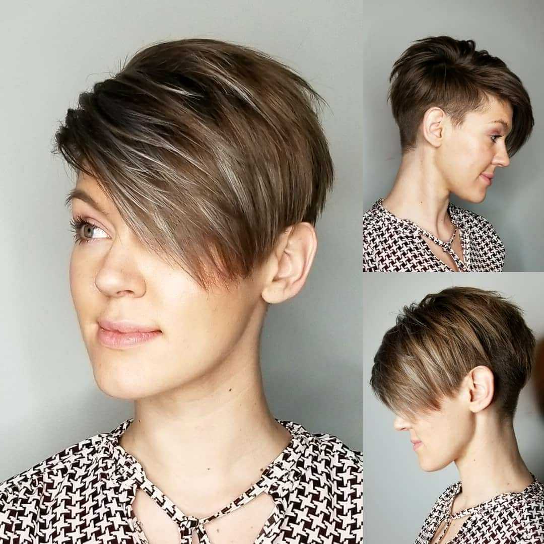 Well Known Undercut Pixie Hairstyles With Hair Tattoo Within Short Pixie Asymmetrical Haircuts – 15+ (View 7 of 20)