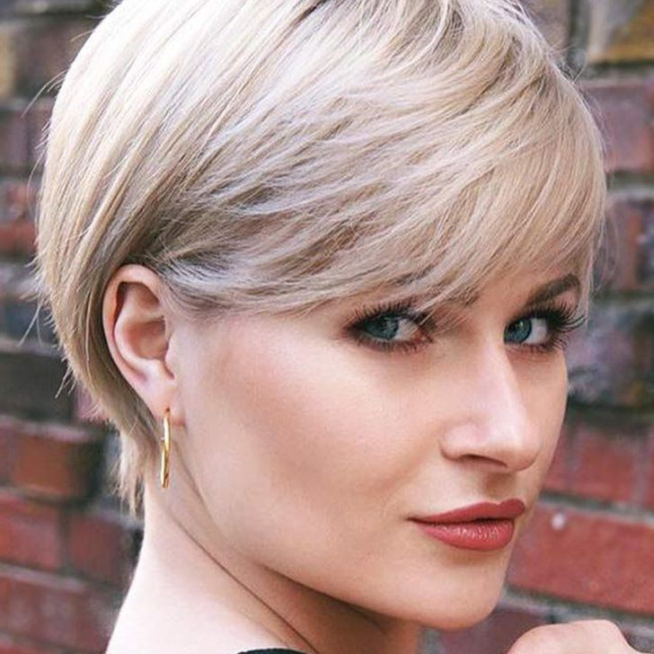 Well Liked Platinum Blonde Pixie Hairstyles With Long Bangs Regarding 37 Stylish Choppy Pixie Cuts  (View 3 of 20)