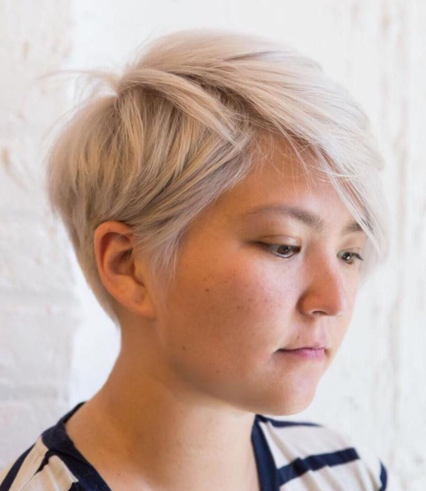 Well Liked Sleek Coif Hairstyles With Double Sided Undercut Inside 50 Super Cute Looks With Short Hairstyles For Round Faces (View 5 of 20)