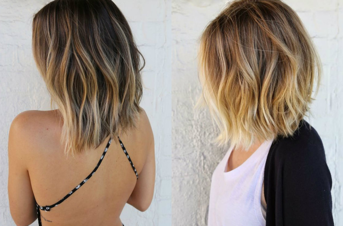 What About Short Hair Balayage? | Hairdrome Inside Short Bob Hairstyles With Balayage Ombre (View 18 of 20)