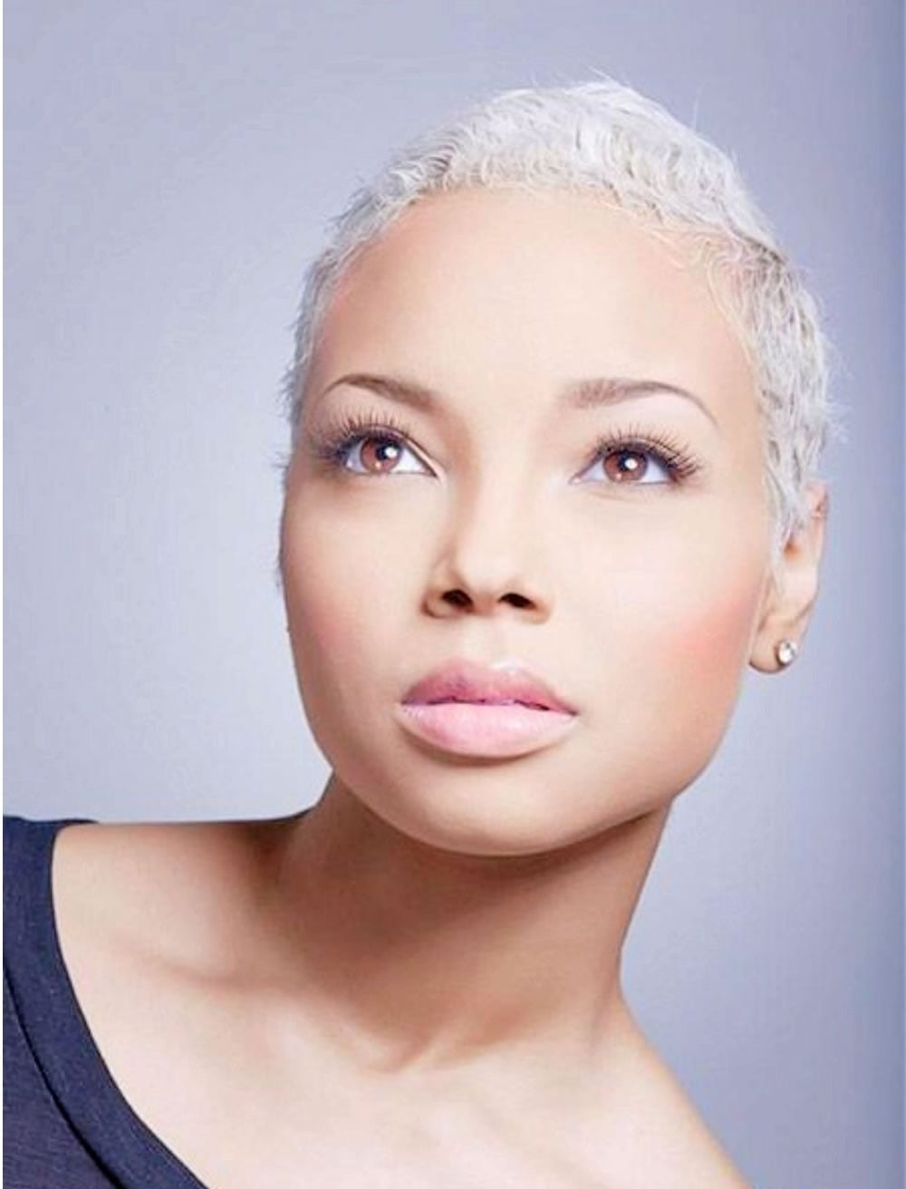 Widely Used Gray Short Pixie Cuts With Regard To Grey Hair Color Very Short Pixie Haircut For Black Women (View 2 of 20)