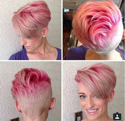 Widely Used Razor Cut Pink Pixie Hairstyles With Edgy Undercut Intended For 15+ Pink Pixie Hair (View 18 of 20)
