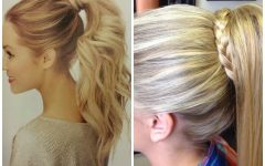 Pony Hairstyles with Wrap Around Braid for Short Hair