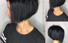Short Sliced Inverted Bob Hairstyles