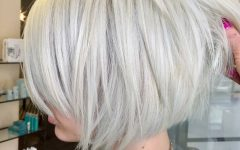 Layered Platinum Bob Hairstyles