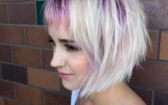 Short Messy Lilac Hairstyles
