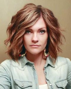 Medium Short Haircuts For Thick Wavy Hair