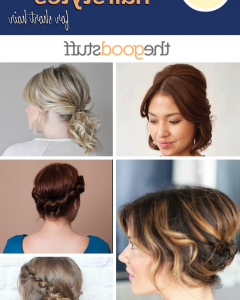 Quick Easy Updo Hairstyles For Short Hair