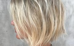 Choppy Wispy Blonde Balayage Bob Hairstyles